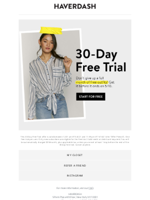 Haverdash - Don't forget about your ✨ FREE TRIAL ✨