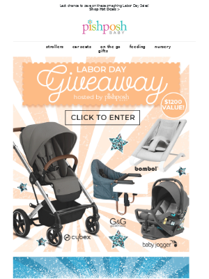 PishPoshBaby - 🎁Enter to win the Labor Day Giveaway + Last Chance to Save on Labor Day Deals!⏰