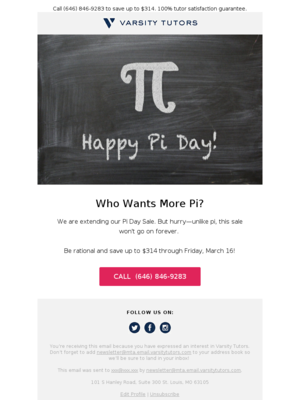 Pi Day Sale extended through Friday. More pi for you!