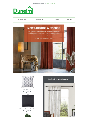 New Curtains from £20 + Reversible styles