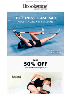 Brookstone - 50% Off Fitness Flash Sale