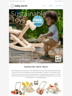 BabyEarth - Eco-Toys. Healthy Kids. Better World.🌎