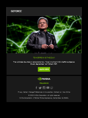 NVIDIA - Don't Forget - GeForce Special Event Tomorrow