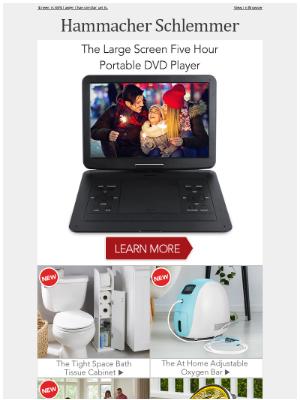 Hammacher Schlemmer - The Large Screen Five Hour Portable DVD Player