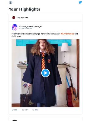TYGER💜#RainOnMe⛈☔️ Tweeted: Hermione telling the ph@gs how to fucki...