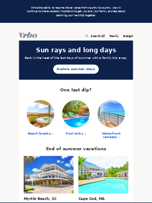 VRBO - Squeeze in some more sunshine