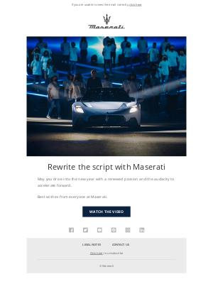 Maserati North America - Best wishes from Maserati