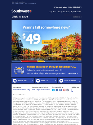Southwest Airlines - $49 fall fares? Yes, please.