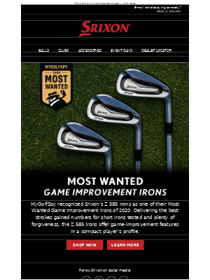Srixon - Z 585 Irons | Most Wanted Game Improvement Irons