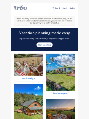 HomeAway - 8 popular trips for the whole family