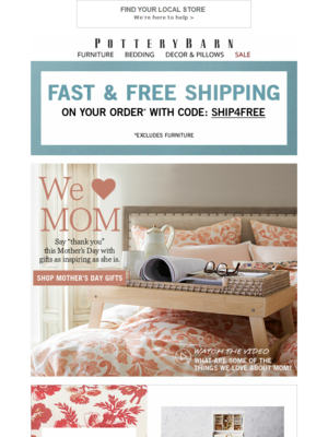 In stores & online: 20% off + Free Shipping on pillows! We're here to help
