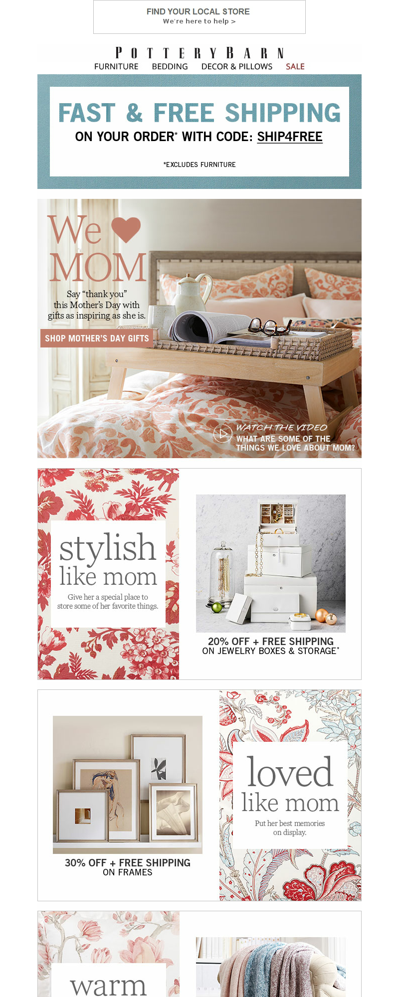Pottery Barn - WE ❤️ MOM – Our Mother's Day Gift Picks Are In!