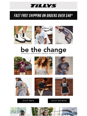 Tillys - 👐 Be The Change | conscious. comfortable. creative. connected.