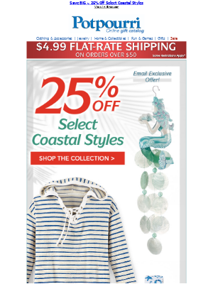 Save 25% NOW ~ Select Coastal Styles ~ So Beautiful