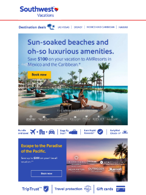 Southwest Vacations - We think you'll want to open this... Our beach vacations are ideal for savvy travelers 👙