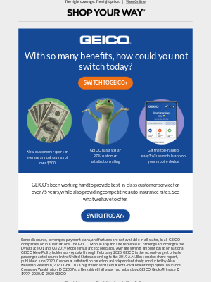 Sears - Don't Forget: Switch and you could save hundreds on auto insurance