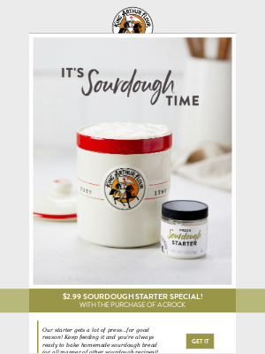 Our sourdough starter is on sale!