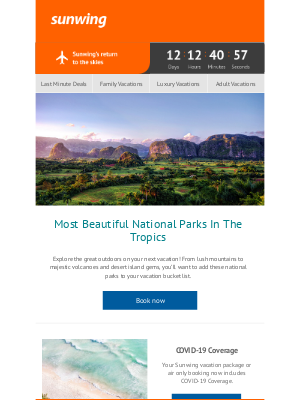 Sunwing Vacations Inc. (CA) - Beautiful National Parks In The Tropics