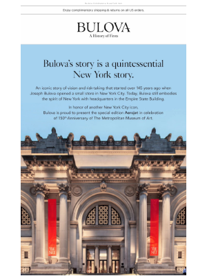 Bulova - 150th Anniversary of The Metropolitan Museum of Art