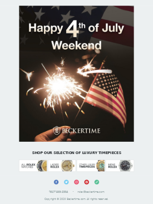BeckerTime - Happy 4th of July Weekend!