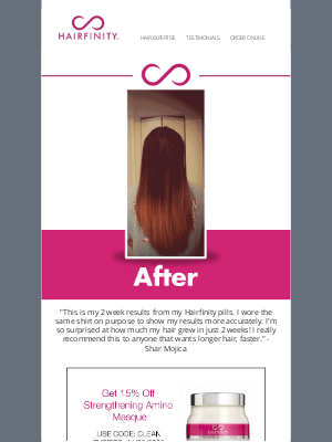 Hairfinity - Transformation Tuesday: Grow your hair stronger, longer, and faster.