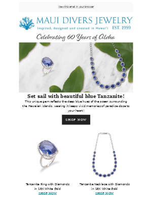 Echoing the deep blue Hawai'i oceans- Our Tanzanite collection!