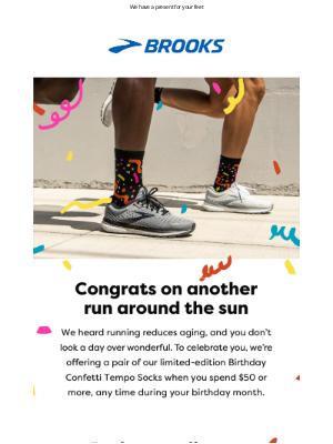 Brooks Running - Happy Birthday!