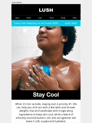 Lush North America - Stay cool with summer essentials