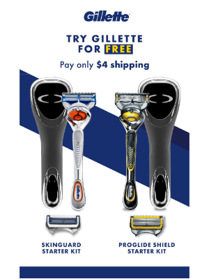 Gillette - The best blades, now free.