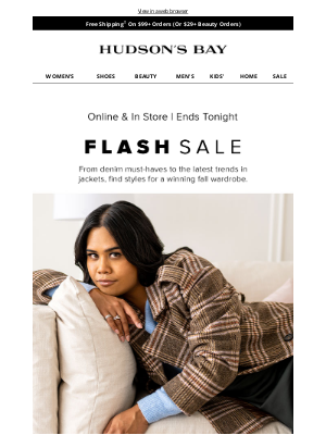 Hudson's Bay (CA) - ⚡⚡ The Flash Sale you can't miss!