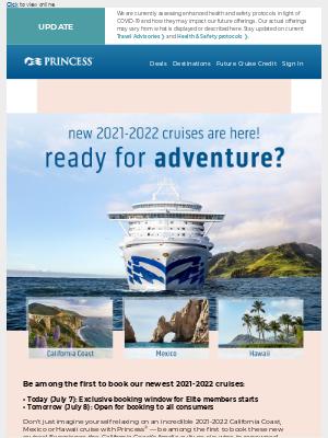 On sale: 2021-2022 California Coast, Mexico & Hawaii cruises