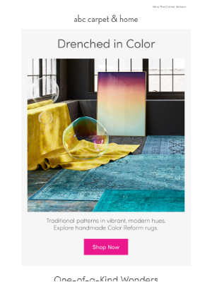 ABC Carpet & Home - Handmade radiance: the Color Reform collection