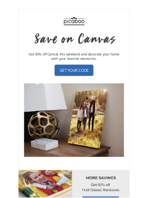 Picaboo - Canvas Are 50% Off Today!