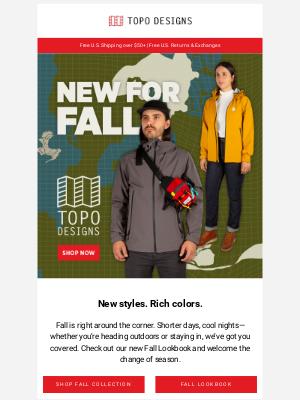 Topo Designs - NEW FOR FALL