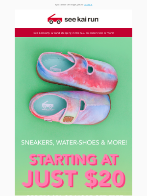 See Kai Run - Get 50% Off Summer Kids Shoes