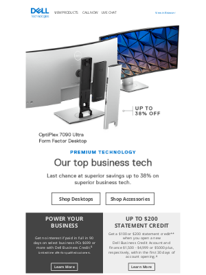 Dell - FINAL HOURS: Up to 38% off premium tech for your small business.