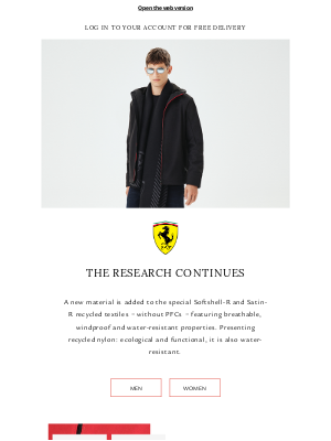 Ferrari - New Fabrics | Autumn/Winter 2020