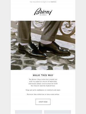 Brioni - WALK THIS WAY