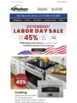 AJ Madison - The Ultimate Cooking Guide + Save up to 45% on Cooking Appliances