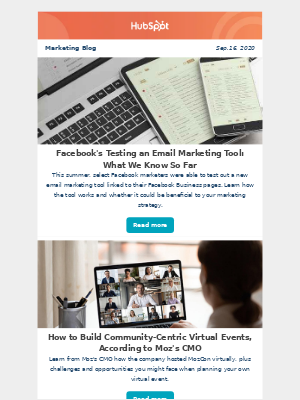HubSpot - Facebook's Testing an Email Marketing Tool: What We Know