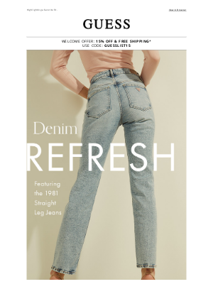 GUESS - It's Time For New Denim