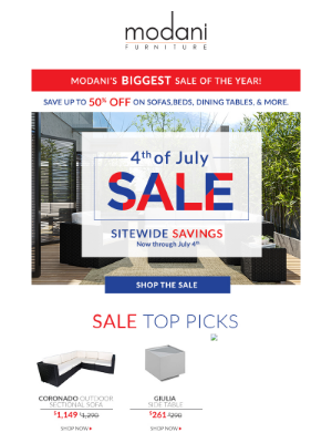 Modani Furniture - Our Biggest Sale Of The Year! 🔴⚪️🔵