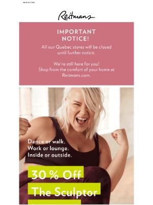 Reitmans (CA) - ✨ Surprise: 30% off the Sculptor leggings!