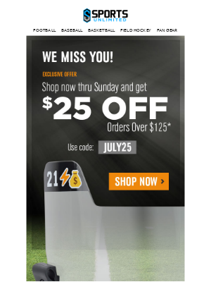 It's Been a While - Come back and get $25 Off this week