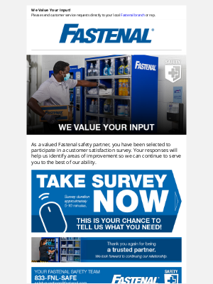 Fastenal - Tell Us What You Think