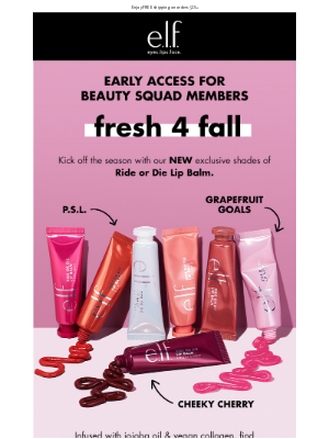 e.l.f. Cosmetics - Beauty Squad Early Access: NEW Ride or Die Lip Balm shades!