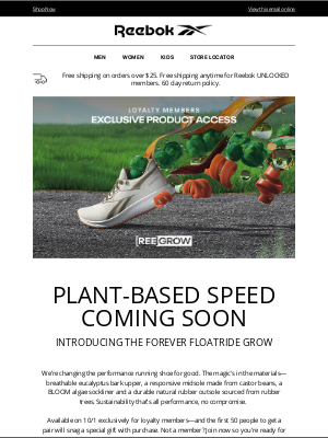 Reebok - Plant-Based Running Shoes? You Better Believe It.