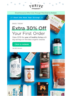 Your extra 30% off is about to expire