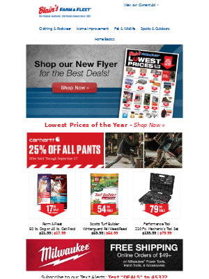 Blain's Farm and Fleet - Shop our New Flyer + Lowest Prices of the Year!