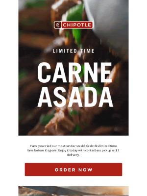 Chipotle Mexican Grill - The Carne Asada Comeback